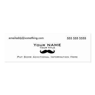 Modern Mustache Mini Business Card