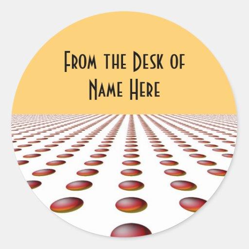 Modern Name Tag/Desk Tag Design Classic Round Sticker
