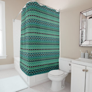 Modern Native American 39A-B Options Shower Curtain