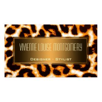 Modern Natural Leopard Professional Business Card Business Card