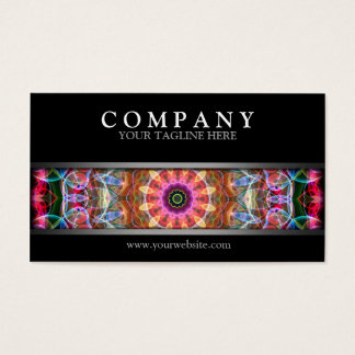 Modern Nature Love Mandala Business Card