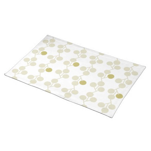 Modern Nature Placemat - Mod Sprigs (Pale Olive)