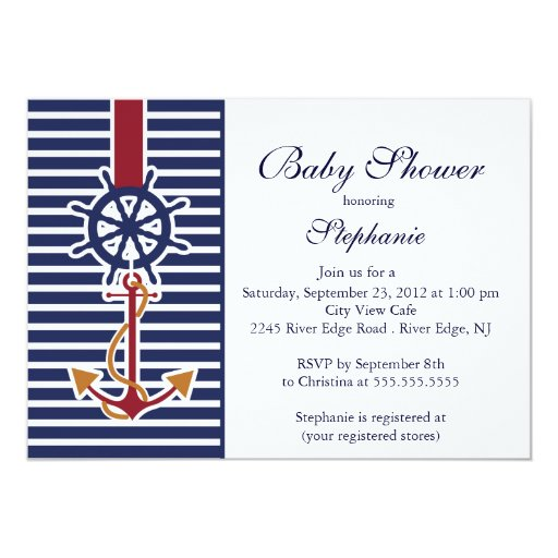 Anchor Invitations for good invitation example