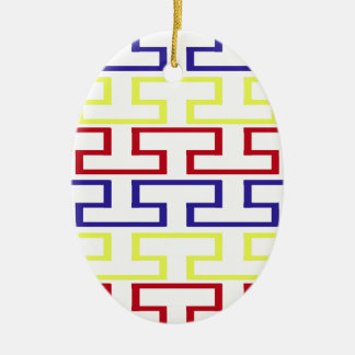 Modern Nautical Colored Bricks Ceramic Ornament