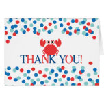 Modern Nautical Crab Boys Baby Shower Thank You Stationery Note Card