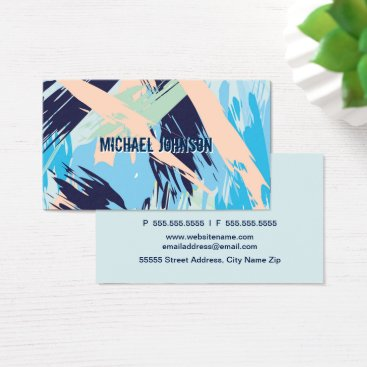 Beach Themed Modern Nautical Maritime Blue Business Card