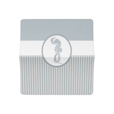 Beach Themed Modern Nautical Seahorse Beach Checkbook Cover