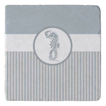 Beach Themed Modern Nautical Seahorse Beach Trivet