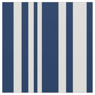 Modern Navy and White Stripes Fabric