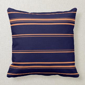 Navy Blue And Orange Throw Pillows : Orange And Blue Striped Pillows - Decorative & Throw Pillows Zazzle
