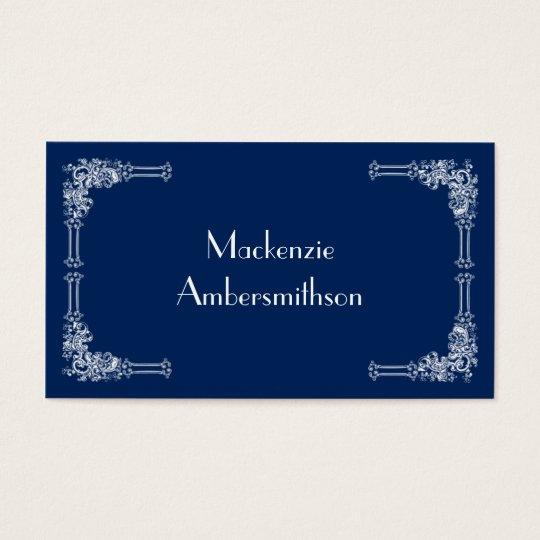 Modern Navy Blue Business Card