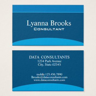 Modern Navy Blue Consultants Business Card