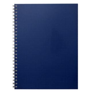 Modern Navy Blue Customizable Spiral Notebook