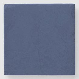 Modern Navy Blue Customizable Stone Coaster
