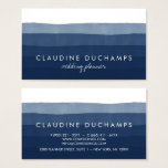 "Modern navy blue elegant watercolor ombre striped business card<br><div class=""desc"">A modern navy blue elegant watercolor ombre striped business card design. Customize this modern navy blue elegant watercolor ombre striped business card and give it your individual style. A professional modern customizable Business Card. Perfect for many professions looking for that visual creative edge over their competitors to stand out from...</div>"