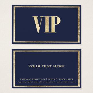 Modern navy blue faux gold VIP card club member