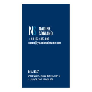 Modern Navy Blue Monogram Business Card