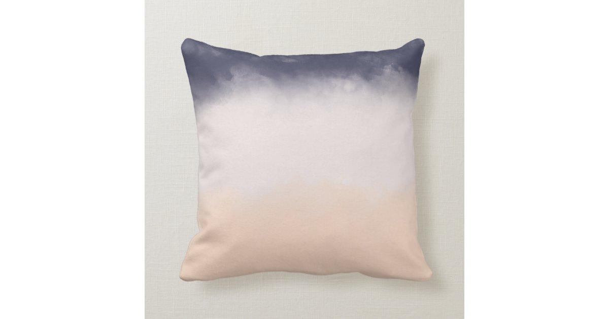 Modern Family Pillow Stripe : Modern Navy Blue Peach Watercolor Block Stripes Pillow Zazzle