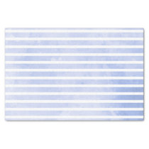 Modern Navy Blue Stripe Watercolor Wedding Tissue Paper