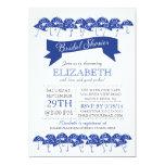 Modern Navy Blue Umbrella Bridal Shower Card