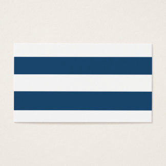 Modern Navy Blue White Stripes Pattern Business Card