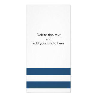 Modern Navy Blue White Stripes Pattern Card