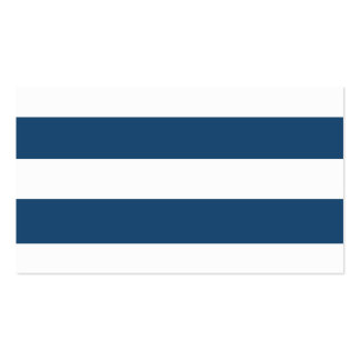 Modern Navy Blue White Stripes Pattern Double-Sided Standard Business Cards (Pack Of 100)