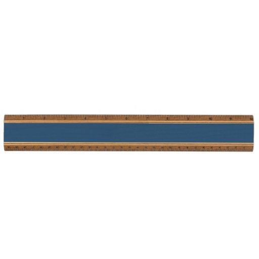 Modern Navy Blue White Stripes Pattern Maple Ruler