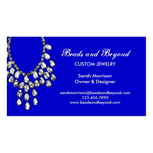 Modern necklace jewelry business card images frompo for Premier designs jewelry business cards