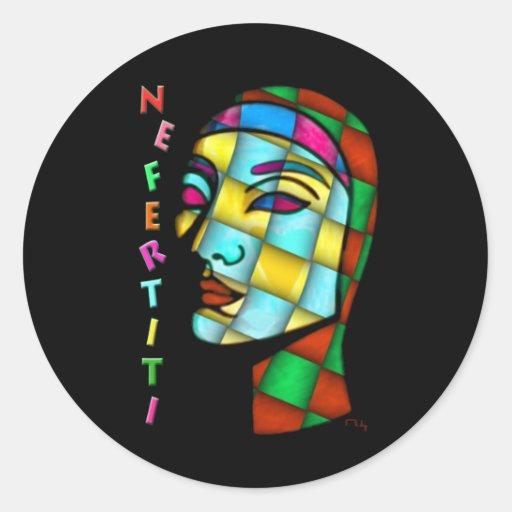 modern nefertiti sticker