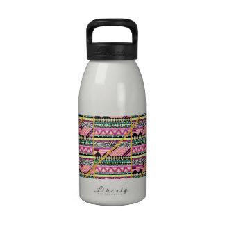 Modern Neon Aztec Zebra Gold Glitter Stripes Drinking Bottles