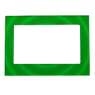 Modern Neon Green Spiral Photo Frame