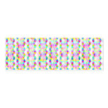 Modern neon hand painted abstract triangles Double-Sided mini business cards (Pack of 20)