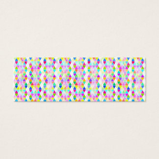 Modern neon hand painted abstract triangles mini business card