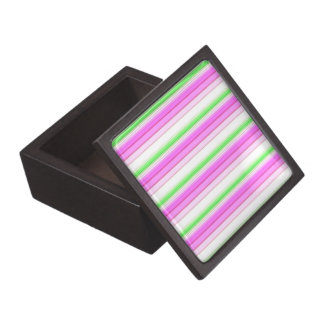 Modern neon pink teal white stripes pattern gift box