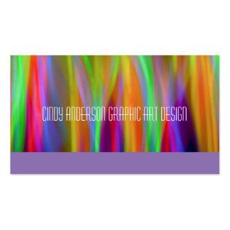 Modern Neon Rainbow Business Cards