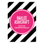 MODERN NEON STRIPES BUSINESS CALLING CARD LARGE BUSINESS CARDS (Pack OF 100)
