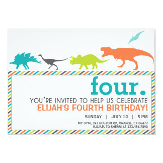 Modern Neutral Dinosaur Silhouette Birthday Invite