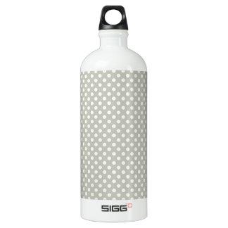 Modern Neutral Dot Pattern Aluminum Water Bottle