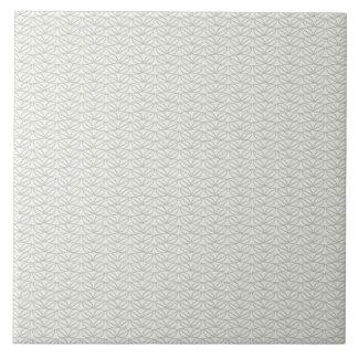 Modern Neutral Grey Leaf Pattern Tile