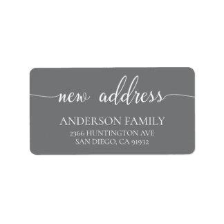 Modern New Address Return Address Label