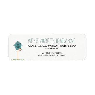 Modern New home house we are moving return address Label