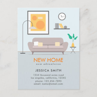 Modern New Home Moving Announcement Postcard