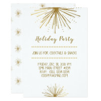 Modern  NEW YEAR Party Star Holiday Party Card