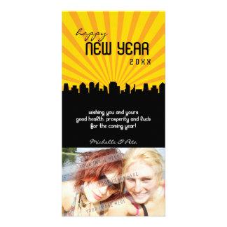 MODERN NEW YEAR PHOTOCARD :: cityscape P1 Card