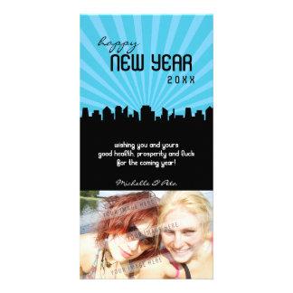 MODERN NEW YEAR PHOTOCARD :: cityscape P4 Card
