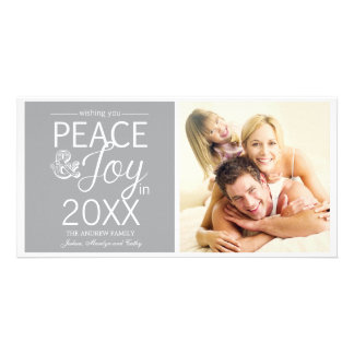 Modern New Year Wishes Peace and Joy Picture Card