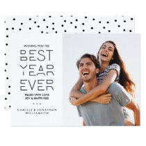 Modern New Year's Holiday Photo Best Year Ever Card