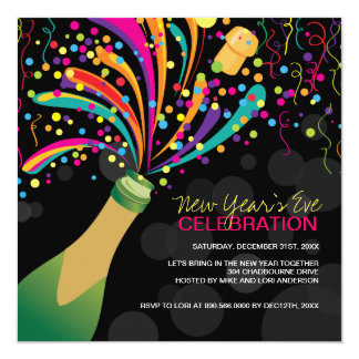 Modern New Years Party Invitation