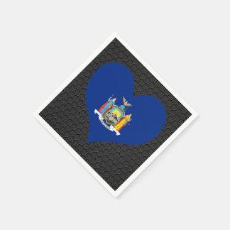Modern New Yorker flag Standard Cocktail Napkin